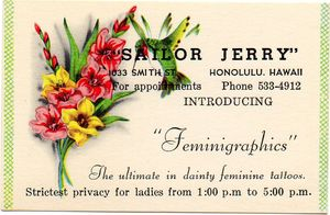 Sailor Jerry Biz Card