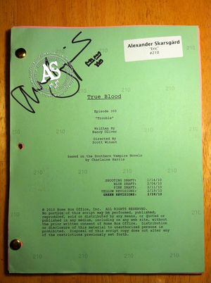 True Blood Script Signed