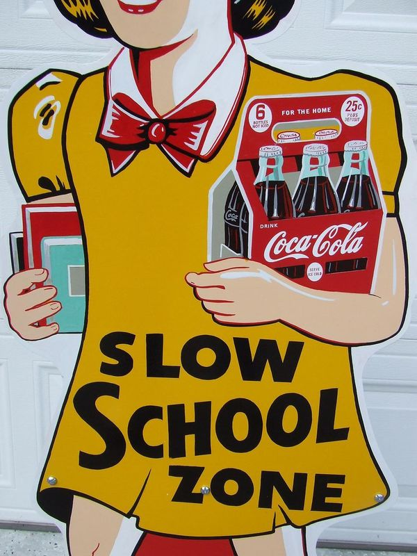 Coke School Zone Sign