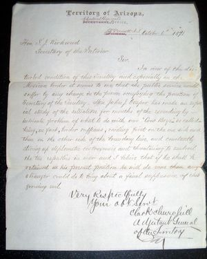 Tombstone letter