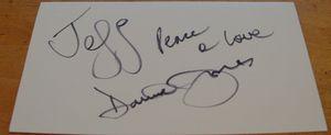 Davy Jones Autograph