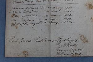 Paul Revere Family Records