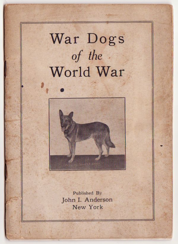 War Dogs of the World War Pamphlet Military K-9 Red Cross 1919