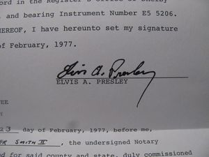 Elvis Signed Contract
