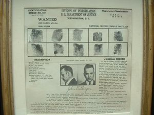 Dillinger Wanted Poster