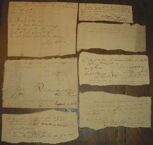 Revolutionary war receipts