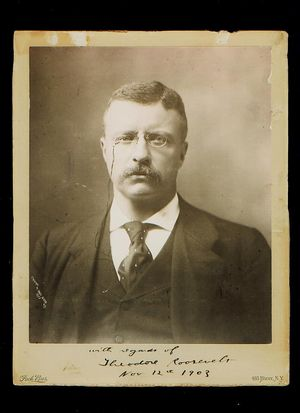 Teddy Roosevelt Photograph Signed