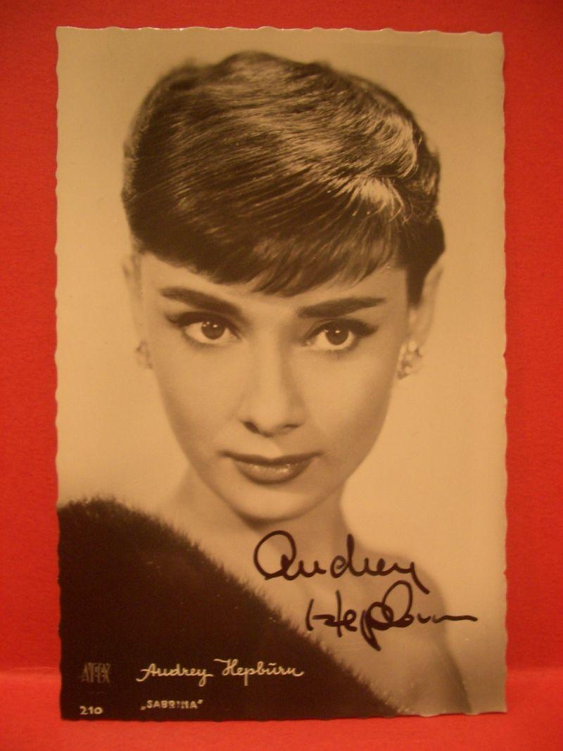 Audrey Hepburn Postcard Signed