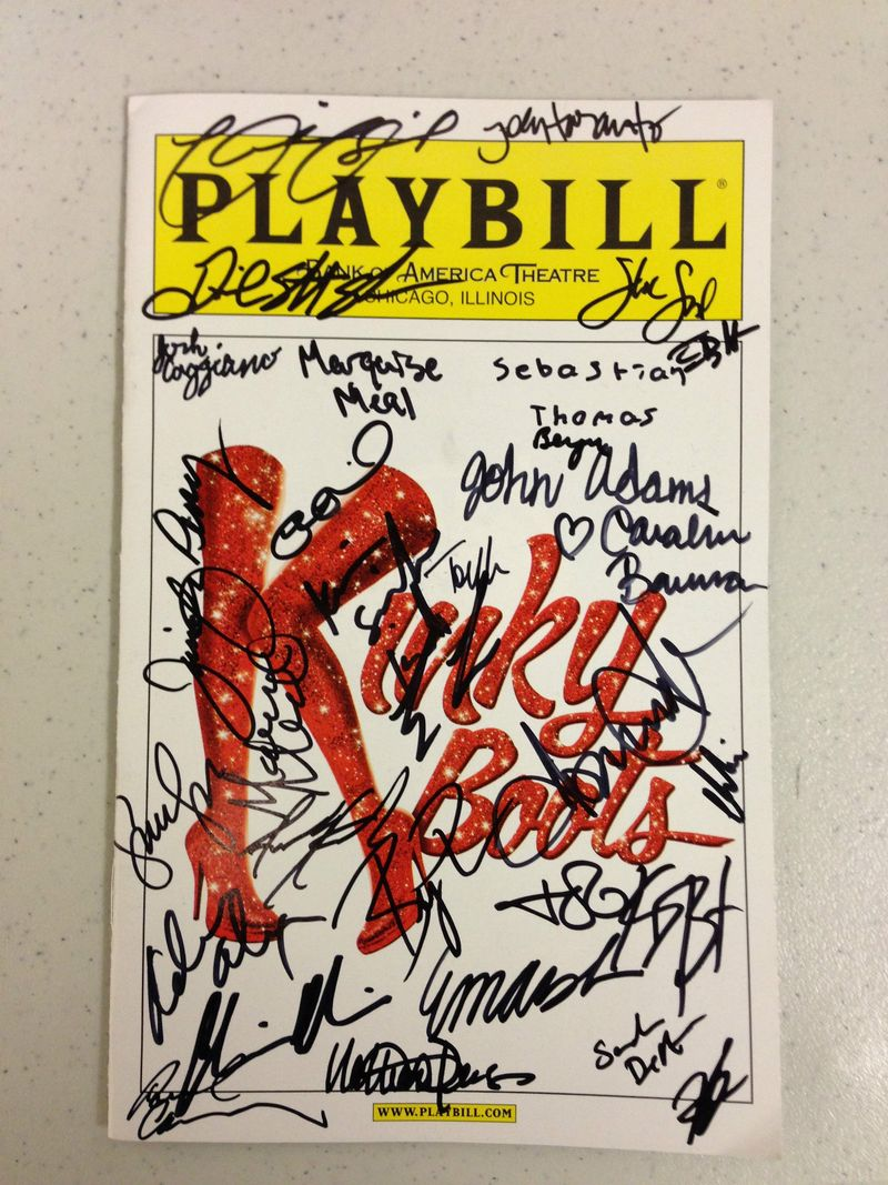 Kinky Boots Signed Playbill