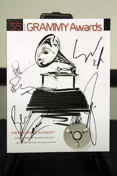 Mumford & Sons Signed Grammy Awards Poster