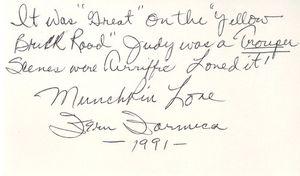 Oz Munchkin Autograph