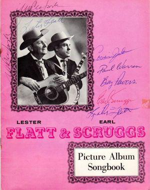 Flatt Scruggs Signed Songbook