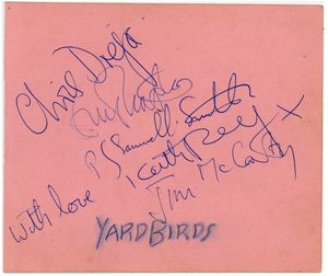 Clapton Yardbirds Signatures