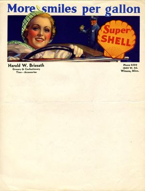 Shell Gas letterhead