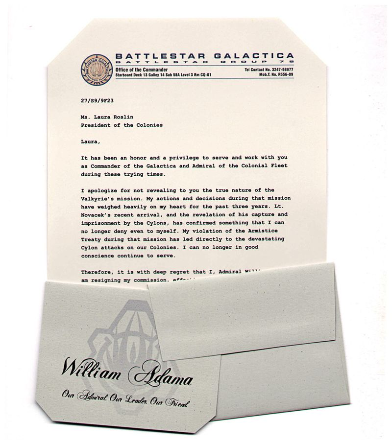Battlestar Galactica Resignation Letter