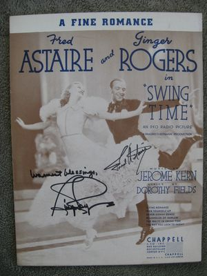 Astaire and Rogers Sheet Music