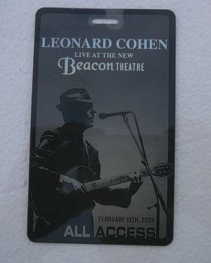 Leonard Cohen Beacon Theatre Pass