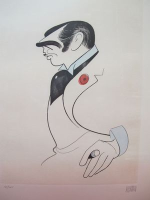 Al Hirschfeld Clark Gable Drawing