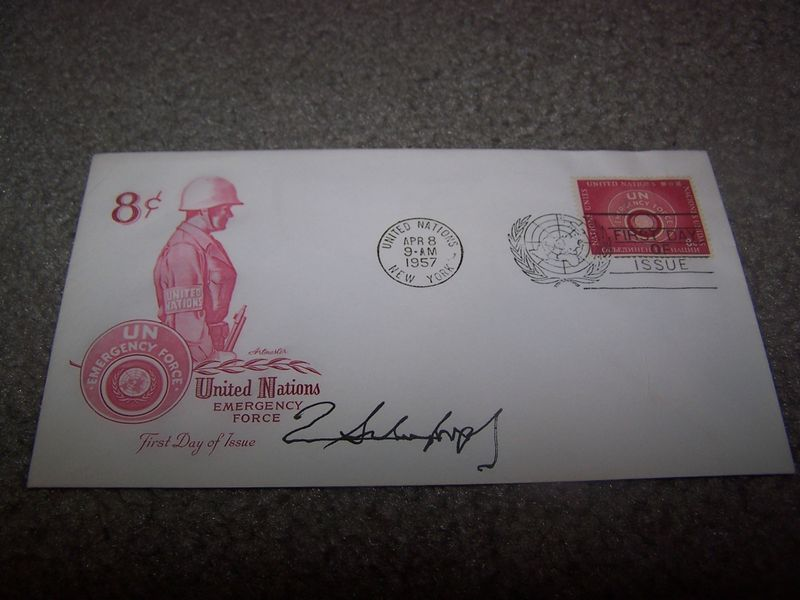 Schwarzkopf Signed First Day Cover