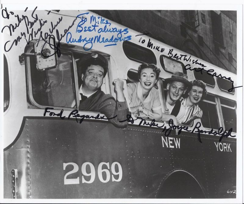 Honeymooners Cast Signed Photo