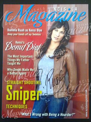 Daniela Ruah Signed Magazine Cover