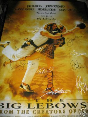 The Big Lebowski Signed Poster
