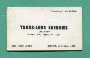 Trans Love Energies Business Card