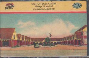 Clarksdale Mississippi Hwy 61 postcard