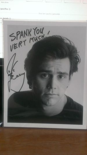 Jim Carrey Autographed Photo
