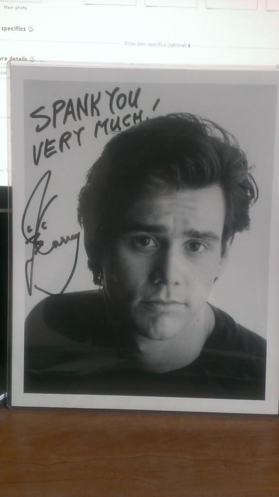 Jim Carrey Autographed Photo