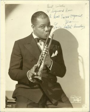 Louis Armstrong Signed Photograph