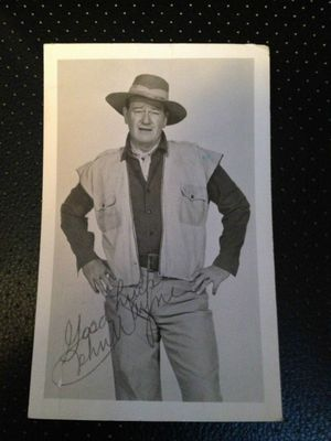 John Wayne Signed Photograph