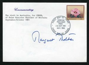 Margaret Thatcher Signed Envelope Cover