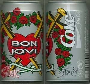 Bon Jovi Coca Cola Can Signed