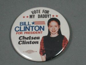 Chelsey Clinton Button
