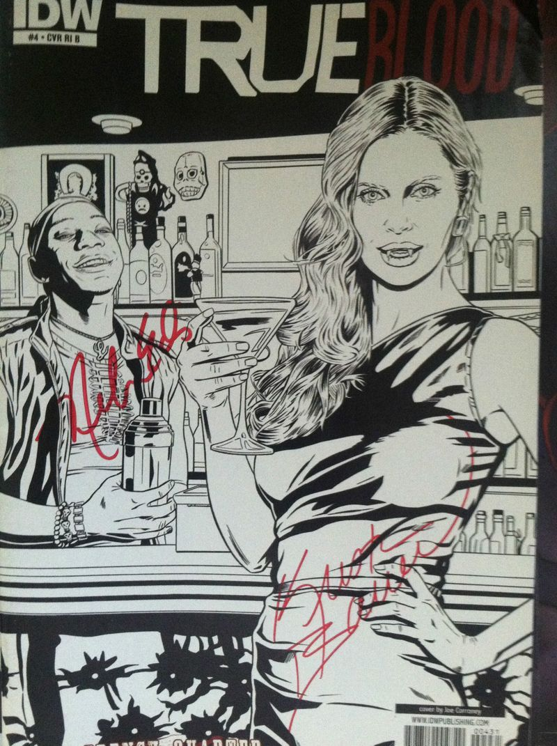 True Blood Comic Book Signed