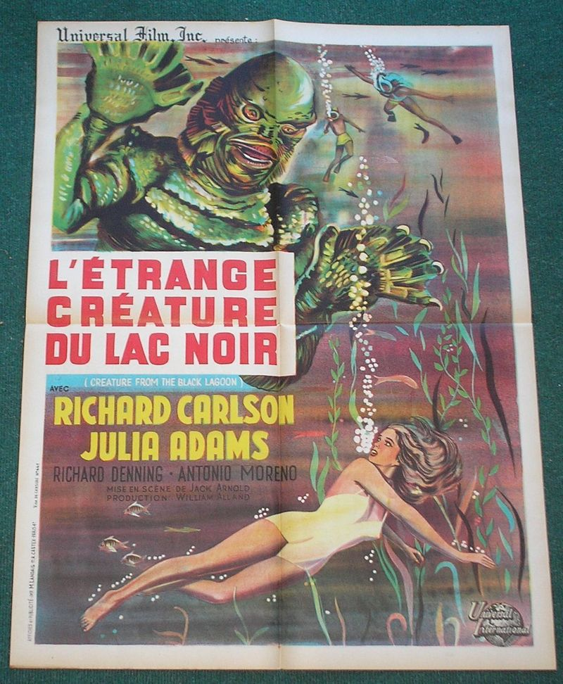 Creature from black lagoon french movie poster
