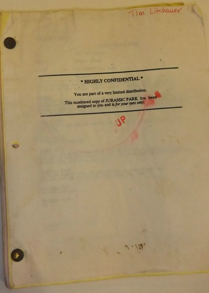 Jurassic Park Script