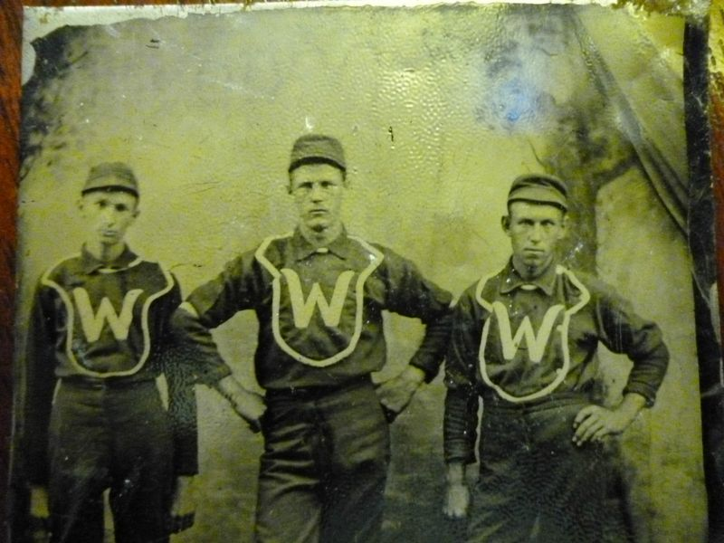 Washington Baseball Team Photo Tintype 19th C