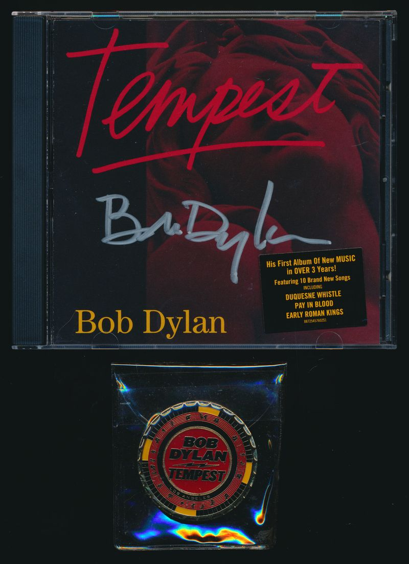 Bob Dylan Tempest Autographed CD