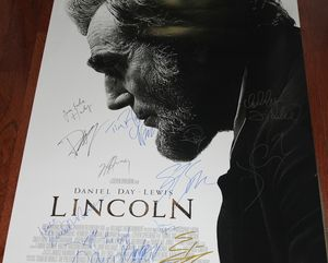 Lincoln Movie Poster Cast Signed