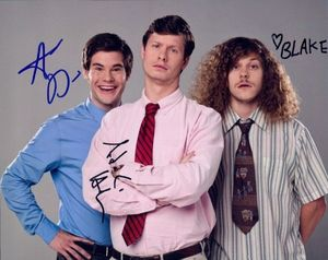 Workaholics signed cast photograph
