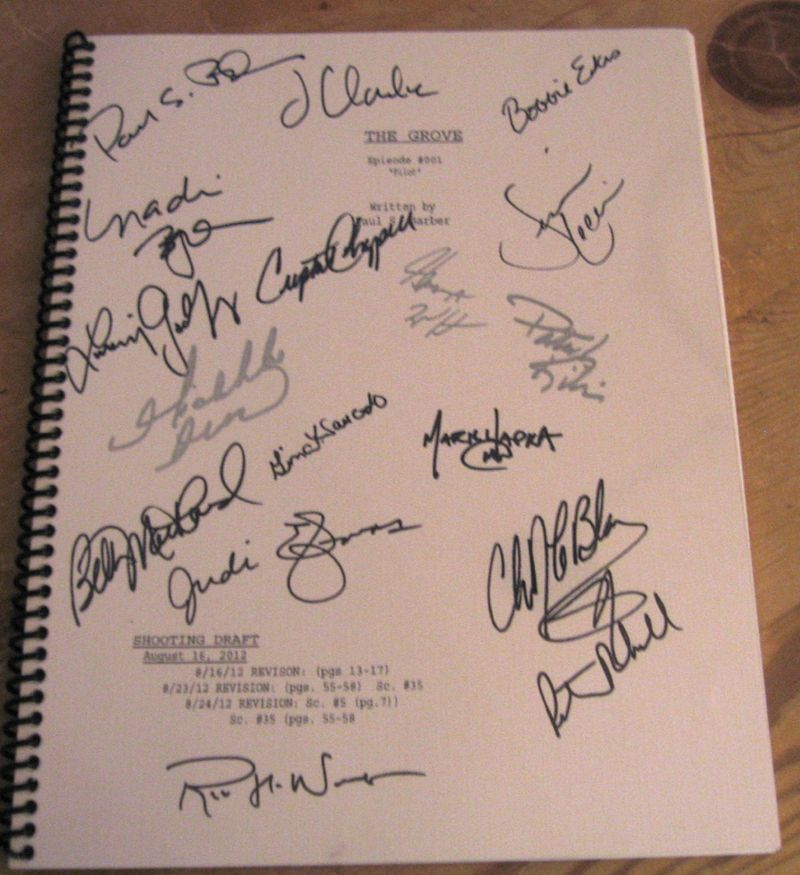 The Grove Cast Signed Script