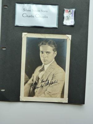 Charlie Chaplin signed photograph