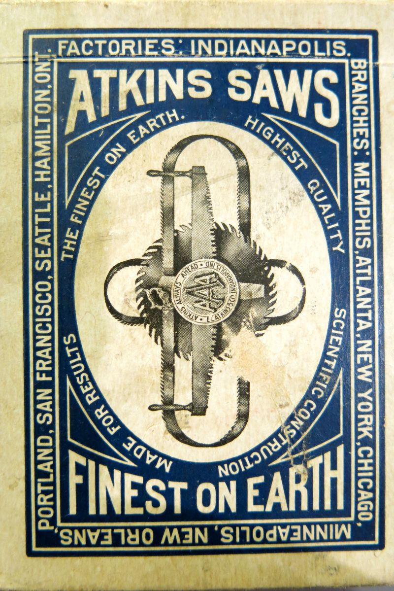 Atkins Saws Playing Card Deck