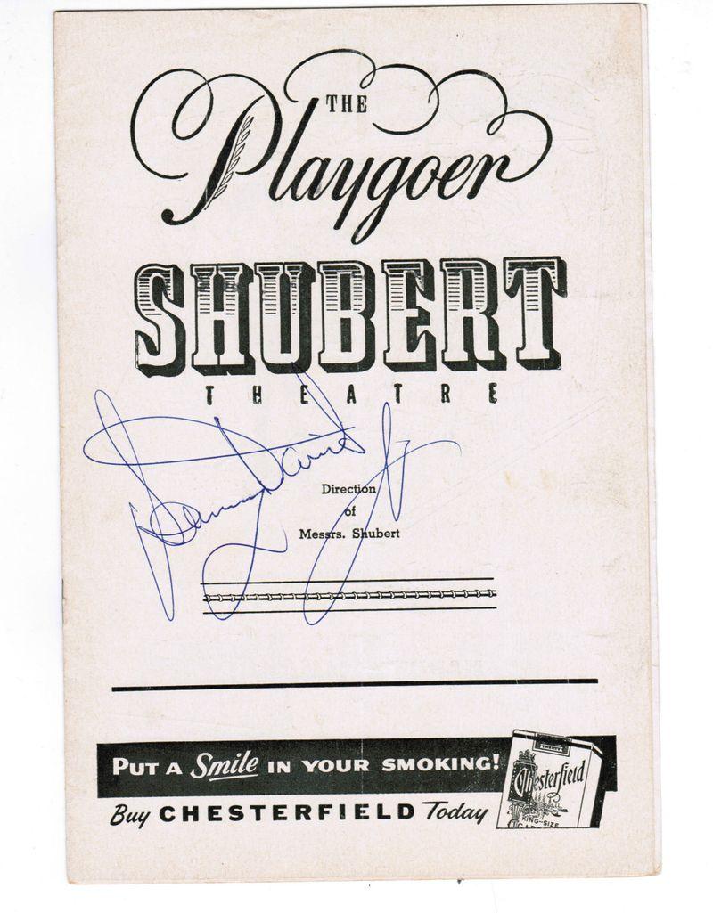 Sammy Davis Jr Signed Playbill