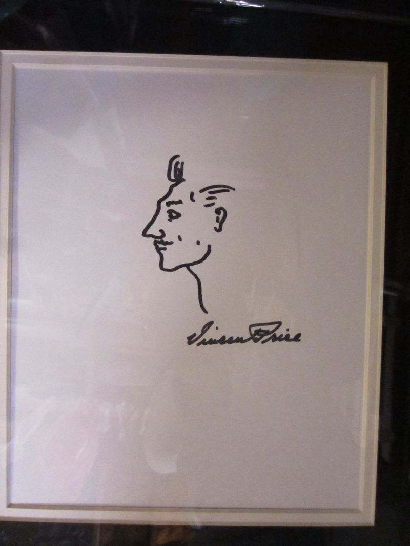 Vincent Price Caricature Drawing