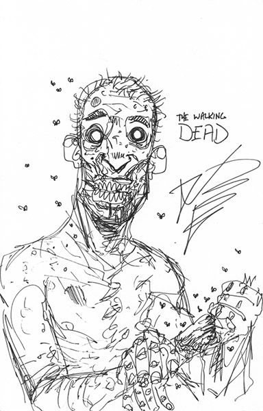 Kirkman Walking Dead Drawing