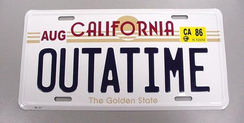 California Vanity Back to Future Plate Tag