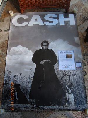 Cash Poster Autographed